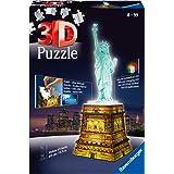 Ravensburger - Puzzle 3D - Building - Statue de la Liberté illuminée - 12596