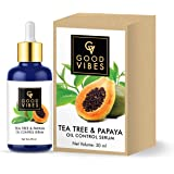 Good Vibes Oil Control Serum - Tea Tree and Papaya - 30 ml - Light Weight Hydrating Formula for Uneven Skin Tone and…