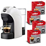 Lavazza A Modo Mio, Macchina Caffé Espresso Tiny Con 64 Capsule Qualità Rossa Incluse, Macchinetta A Capsule Per Un Caffè A C