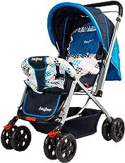 BAYBEE Funbee Vista Baby Stroller Pram (Blue)