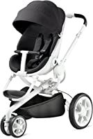 Quinny Moodd Urban Pushchair, Smart and Stylish Pushchair with Automatic Unfolding, 0 months - 3.5 years, Black Irony