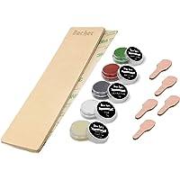 Kit DIY pour Strop d'affûtage en Cuir BACHER Premium. Cuir de Russie tanné de 3mm d'épaisseur, (dimension : 206 mm x 56…