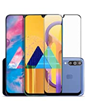SupCares Premium Edge to Edge Tempered Glass Screen Protector for Samsung Galaxy M30S / Samsung Galaxy M30 / Samsung Galaxy A50S / Samsung Galaxy A50 / Samsung Galaxy A30 with Easy Installation Kit (Black) [Pack of 1]