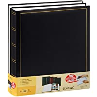Lot de 2 albums traditionnels jumbo 100 pages pour 500 photos 10x15 - Noir
