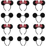 Eterspr 12 Pcs Fascia per Topolino, Topolino Minnie Mouse Fascia, Utilizzata per Mascherata, Festa di Compleanno, Festa Nottu