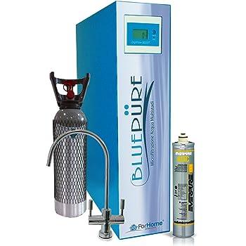 Depuratore Acqua Blue Pure ForHome® a Microfiltrazione Everpure Multistadi Da Sotto Lavello Acqua Liscia E Gasata Co2 4kg - V2.7