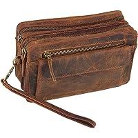 Dargelis Handgelenktasche für Herren – praktische Leder Herrentasche im modernen Design, zahlreiche Fächer mit viel…