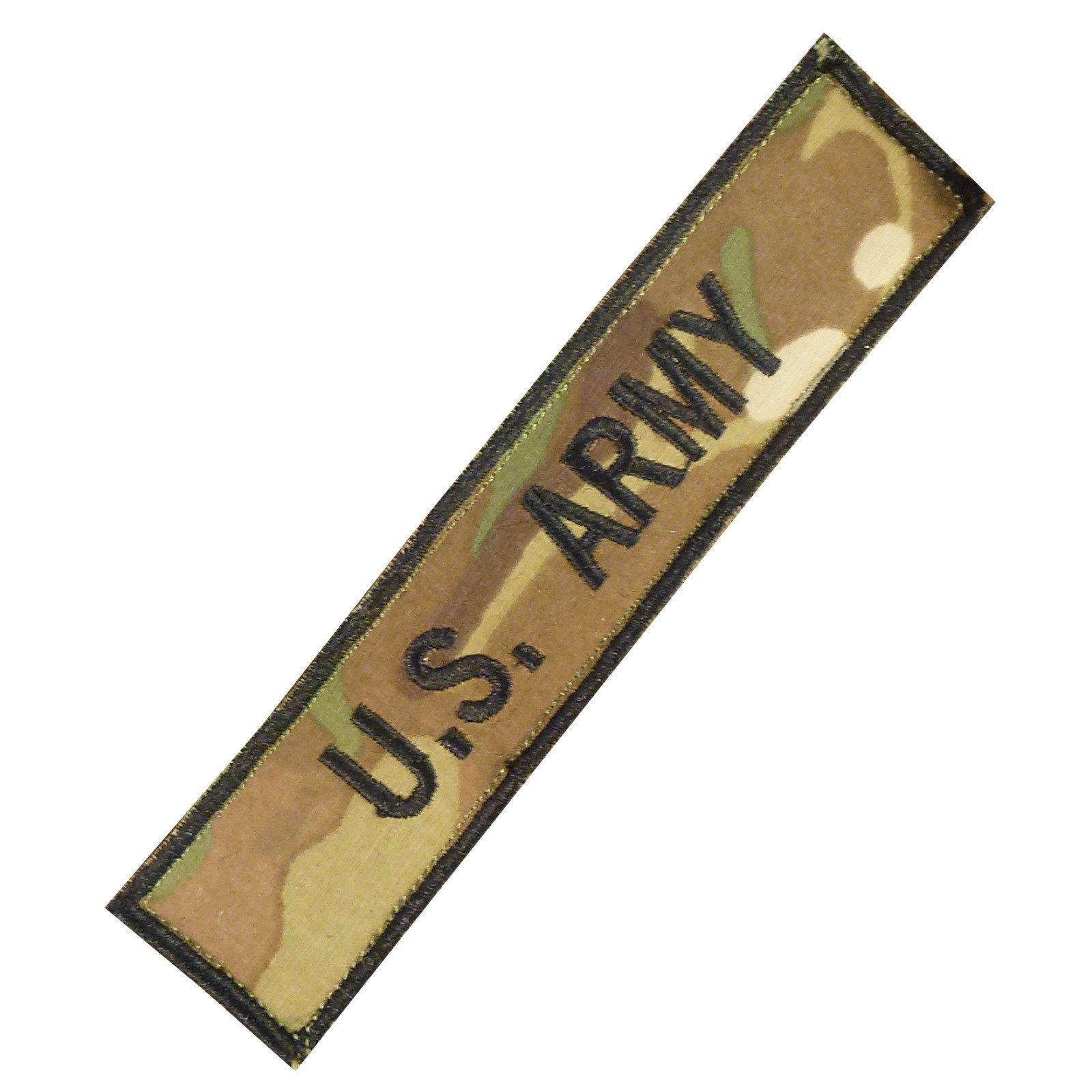 US Esercito Army Name Tape Multicam Morale Ricamata Ricamo Milspec Combat Fastener Toppa Patch