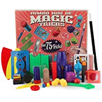 AOLVO Classic Illusions, Mysterious Levitating Wand, Cup Ball, Coin Magic Tricks Toy Kit for Kids with over 75…