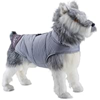 ThinkPet Soft Touch Waterproof Jacket, Warm Winter Dog Coat, Highly Visible Reflective Dog Vest XS Grey