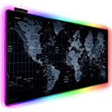 Innoo tech RGB Gaming Mouse Pad, 14 Modes Large Glowing Led Extended Mouse Pad, Anti-Slip Rubber Base and Waterproof Surface,