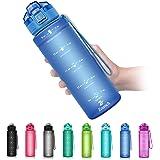 ZOUNICH Botella Agua Deporte, Botella Agua Niños sin BPA Reutilizable Plástico Tritan - 500 ml / 700 ml / 1 l / 1.2 l, Cantim