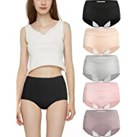 Donpapa Culottes Menstruelle Absorbante Femme Coton Menstruation Slip Règles pour Filles Hipster Shorties Lot de 3/4/5