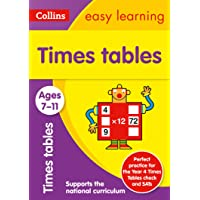 Times Tables Ages 7-11: Ideal for home learning (Collins Easy Learning KS2): KS2 Maths Home Learning and School…