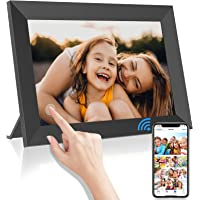 WiFi Digitaler Bilderrahmen, AZMKOO 10,1 Zoll Elektronischer Bilderrahmen, IPS Touchscreen Smart Fotorahmen 1080P HD mit…