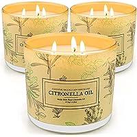Yinuo Mirror Citronella Kerze Outdoor,Citronella Kerze 3 Stück,750g Zitronell Kerze,255-300Std Brenndauer,Geeignet für…