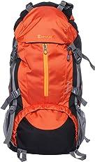 Impulse 65 Ltrs Orange Trekking Backpack (Inverse U Orange)