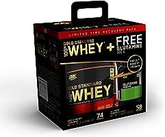 مسحوق بروتين مصل الحليب بنسبة 100% من اوبتيموم نوتريشن جولد ستاندرد 100%، شوكولاتة غنية مزدوجة، 5 أرطال + مسحوق إنعاش...