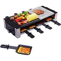 AONI Raclette Grill, gril électrique d'intérieur, gril de barbecue coréen, plaque de gril antiadhésive et pierre de…