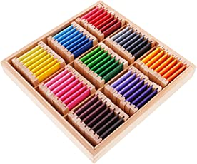 Segolike Montessori Sensorial Material Toy Color Box Kids Educational Color Learning - Wood, Big