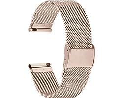 Fullmosa 【2021 Nuevo】 Correa de Reloj, Correa de Acero Inoxidable Repuesto Correas Reloj con Reemplazo de Reloj de 18/20/22 m