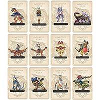Lot de 12 mini cartes Monster Hunter Stories 2 : Wings of Ruin Amiibo MH Rise NFC avec étui compatible avec Switch…