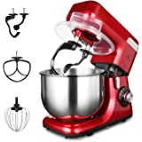 MURENKING MK-55 Food Stand Mixer, 1200W 8-Speed 5.5L Electric Dough Blender with Double Shaft Stepless Automatic Tilt…