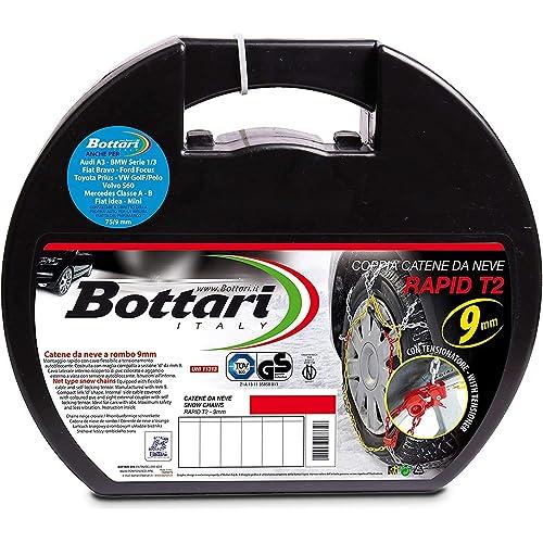 """Bottari 18812 """"Rapid T2"""", Catene neve auto 9 mm, Misura 020, Omologate TUV e GS Onorm"""