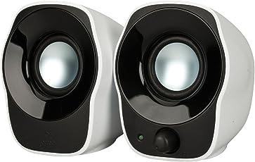 Logitech Z120 Notebook-Lautsprecher 2.0 (mit 3,5 mm USB-Stromversorgung) schwarz/silver