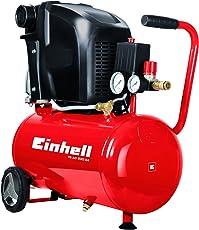 Einhell Kompressor TE-AC 230/24 (1,5 kW, 24 L, Ansaugleistung 230 l/min, 8 bar, ölgeschmiert, große Räder und Haltebügel)
