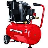 Einhell Kompressor TE-AC 230/24/8 (1.500 W, max. 8 bar, 24 l-Tank, Ölschmierung sichert Langlebigkeit, vibrationsgedämpfter Standfuß, Rückschlag-/Sicherheitsventil, Entwässerungsschraube, 2 Manometer + Schnellkupplung, große Räder + Haltebügel)