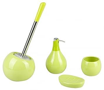 Bad accessoires grün  Badaccessoires Set COPPA Keramik rund - WC-Bürstengarnitur ...