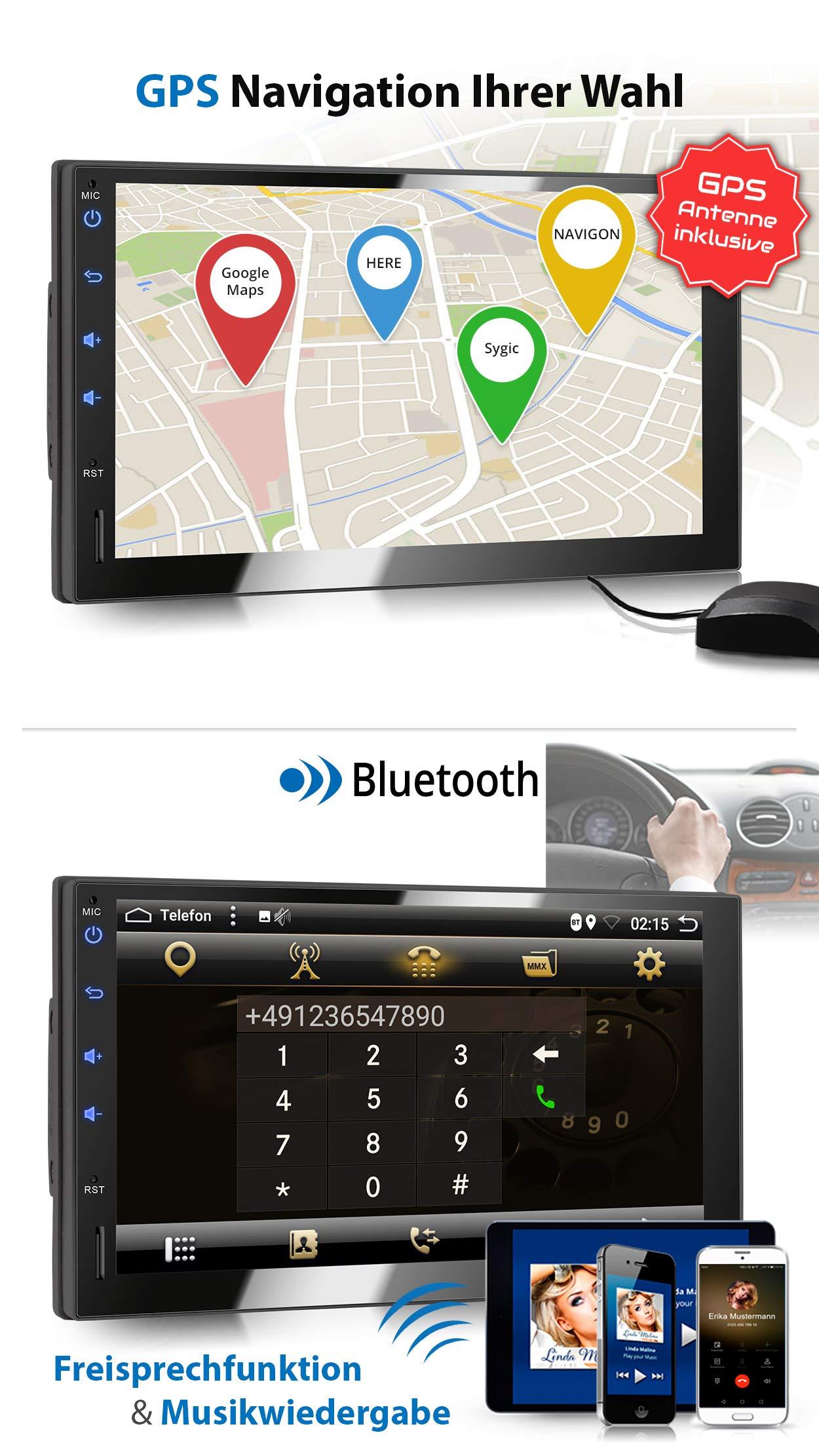 XOMAX-XM-2VA754-Autoradio-mit-Android-81-OctaCore-2GB-RAM-32GB-ROM-GPS-Navigation-I-Support-WiFi-WLAN-3G-4G-DAB-OBD2-I-Bluetooth-7-Zoll-18-cm-Touchscreen-USB-SD-2-DIN