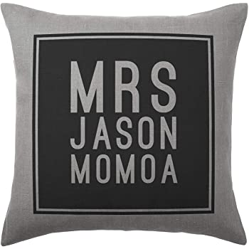 40x40cm Stocking Fillers Jason Momoa Cushion Pillow Available with or without filling pad 100/% Cotton Cover and filling pad Silver Grey