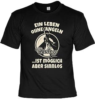 Sprüche T-Shirt Angler Geschenkset Angelsport Schild Blechschild