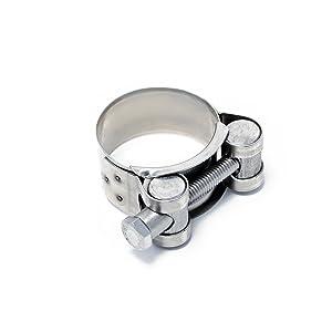 Edelstahl V2A, 201-213mm Gelenkbolzenschelle aus Edelstahl und Stahl verzinkt in 33 Gr/össen /& 2 Materialen