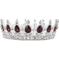 HerZii Prinzessinnen-Diadem mit Strass, für Hochzeit, Party-Zubehör, Kopfschmuck, Krone