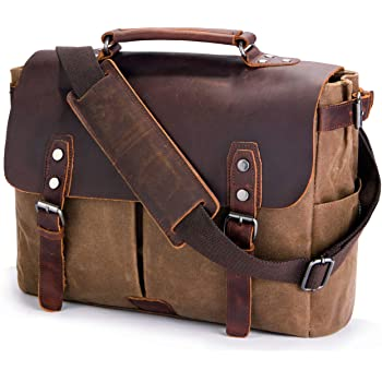 SUVOM Genuine Leather Messenger Bag 14
