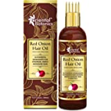Oriental Botanics Red Onion Hair Oil with Comb Applicator 200ml - With 30 Oils & Extracts for Stronger Growth, Control Hair F
