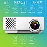 SAMYU WATCH WORLD CUP 2019 RD110 WIFI NEW ARRIVAL PRIVATE HOME CINEMA Portable Projector, Multimedia Home Theater Video...