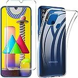 iBetter Coque pour Samsung Galaxy M31 [Doux, Résistant aux Rayures]+ Verre Trempé pour Samsung Galaxy M31 [9H, sans Bulles, Sensibilité Ultra-élevée], Transparent