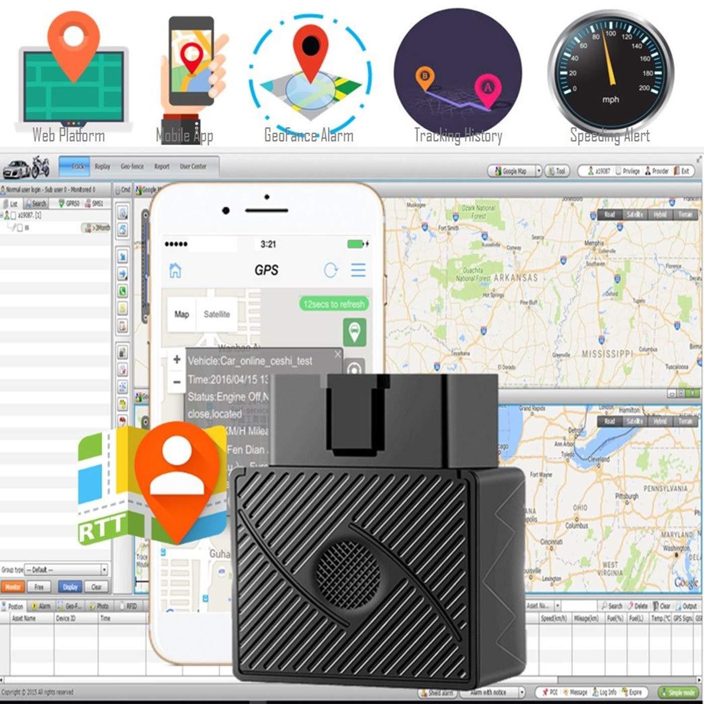 Globalflashdeal OBD II GPS Tracker Tempo Reale Camion dellautomobile Dispositivo di localizzazione Spy Sistema di Allarme Locator