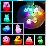 Lictin Jouet de Bain - Kit de Jouet Bain Bébé LED Light Up, 8 Pcs Jouet Piscine pour Bébé Animal Mignon, Jeux de Bain Set ave