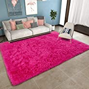 YOH Super Soft Area Rugs Silky Smooth Bedroom Mats for Living Room Kids Room Multicolor Optional Home Decor Carpets