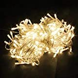 Christmas Bright Yellow Light Xmas Tree Lamps 10 Meters Party Room Decor out Door Decoration LED String Fairy Lights 100 LED