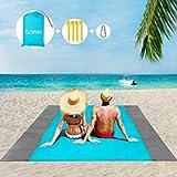 ISOPHO Beach Blanket Picnic Blanket, Extra Large 210 x 200cm/78.7*82.7IN Waterproof Sandproof Water Resistant Beach Mat…