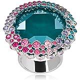 Swarovski Ego Rhodium Plated Crystal Fashion Ring - Size 18.15 mm