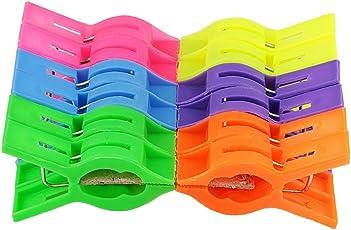 Ivaan Plastic Cloth Hanging Clips (Multicolour)- Set of 24 Pieces (2 Dozen)
