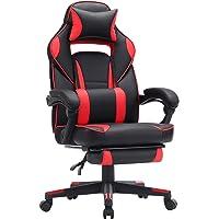 SONGMICS Fauteuil gamer, Chaise gaming, Siège de bureau réglable, avec repose-pieds télescopique, ergonomique, mécanisme…