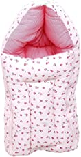 FARETO New Born Baby 3-in-1 Wrapper/Blanket, 0-6Months (Pink)
